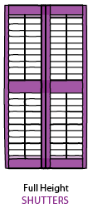 full height shutter