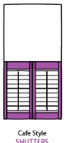 cafe style shutter